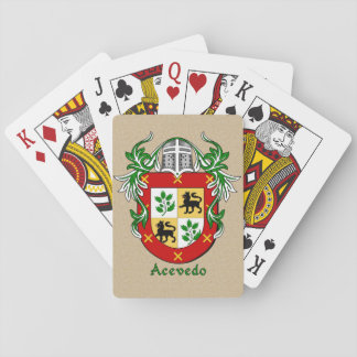 Spanish Surname Acevedo Shield and Mantle Card Deck