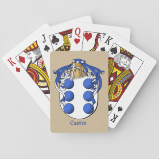 Spanish Surname Castro Shield and Mantle Playing Cards