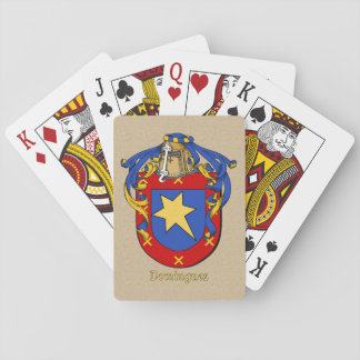 Spanish Surname Dominguez Shield and Mantle Playing Cards