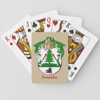 Spanish Surname Fernandez Shield and Mantle Playing Cards