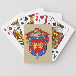 Spanish Surname Gil Shield and Mantle Playing Cards