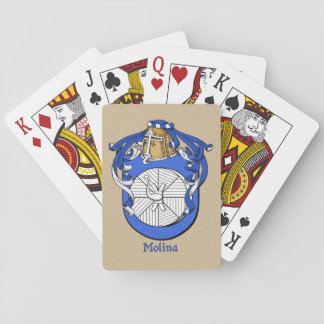 Spanish Surname Molina Shield and Mantle Playing Cards