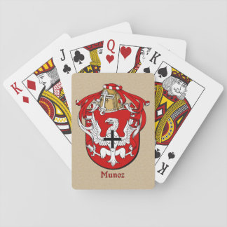 Spanish Surname Munoz Shield and Mantle Playing Cards