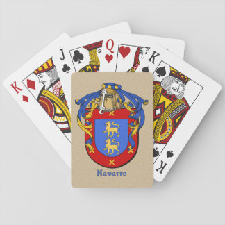 Spanish Surname Navarro Shield and Mantle Playing Cards