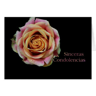 Spanish Sympathy card - Sinceras Condolencias- Dou