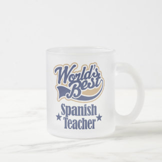 Spanish Teacher Gift For (Worlds Best) Frosted Glass Coffee Mug