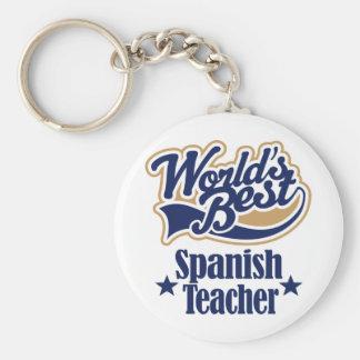 Spanish Teacher Gift For (Worlds Best) Keychain