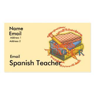 Spanish Teacher Business Cards & Templates