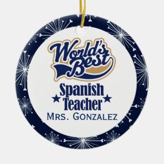 Spanish Teacher Personalized Gift Ornament