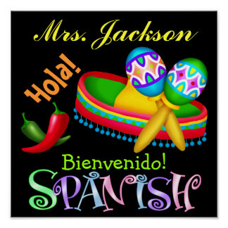 Spanish Teacher Poster / Sign - SRF