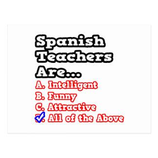 Spanish Teacher Quiz...Joke Postcard