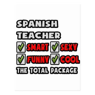 Spanish Teacher ... The Total Package Postcard