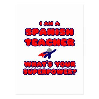 Spanish Teacher .. What's Your Superpower? Postcard