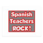 Spanish Teachers Rock! Postcard