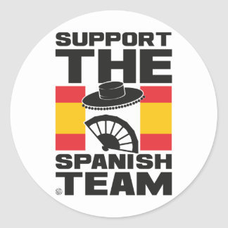 SPANISH TEAM CLASSIC ROUND STICKER