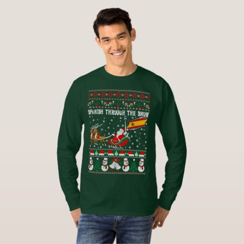Spanish Through The Snow Ugly Christmas Sweater After Christmas Sales 2403
