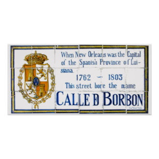 Spanish Tile Bourbon St. Poster
