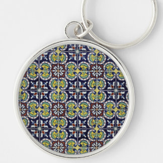 Spanish Tile in Mexico Keychain