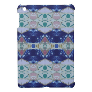 Spanish Tile Mosaic | Bright Colorful Blue Pink iPad Mini Covers