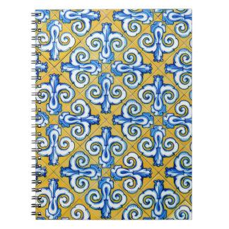 Spanish Tile Spiral Notebook