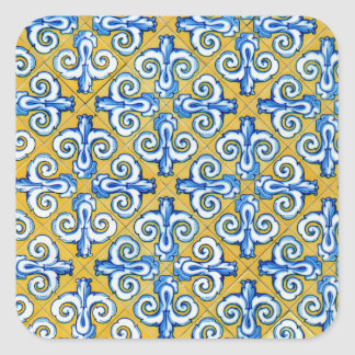 Spanish Tile Square Sticker