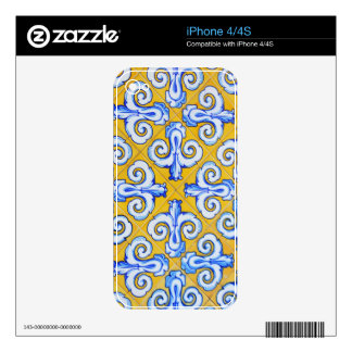 Spanish Tiles Skin For The iPhone 4S