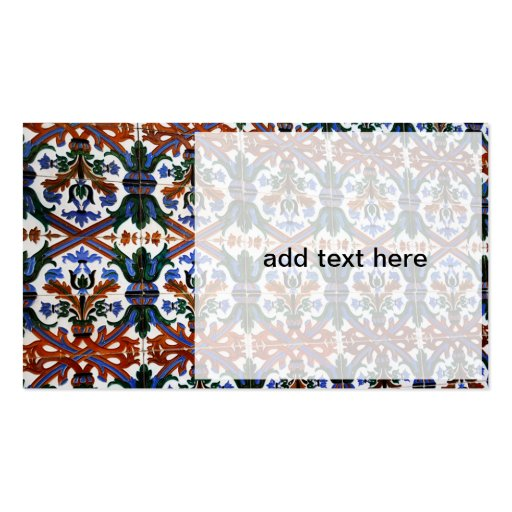 spanish tiles with design business card templates