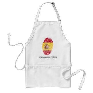 Spanish touch fingerprint flag adult apron