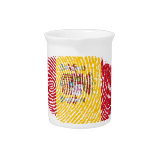Spanish touch fingerprint flag beverage pitcher