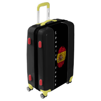 Spanish touch fingerprint flag luggage