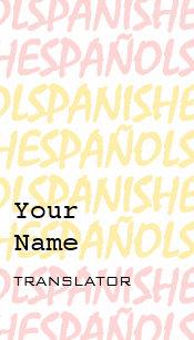 Interpreter business cards zazzle spanish translator or interpreter business cards colourmoves