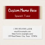 Spanish Tutor Business Card