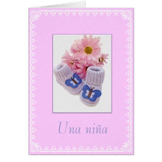 Spanish: Una niña! Baby girl Card