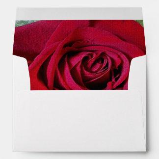 Spanish Valentine Red Rose Tiled A7 Envelope