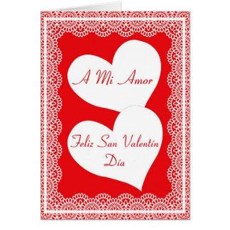 Spanish Valentine's Day Card For My Love