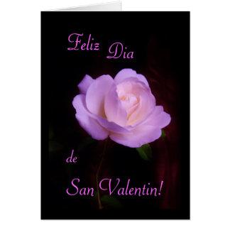 "Spanish: Valentine's day ""I love you"" rose Card"