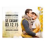 Spanish Vendimia elegante salva(ahorra) la tarjeta Postcards