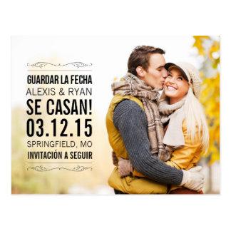 Spanish Vendimia elegante salva(ahorra) la tarjeta Postcard