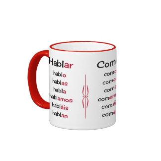 Spanish verbs learning teaching ringer mug