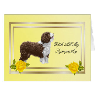 Spanish Water Dog and Yellow Roses - Big Card