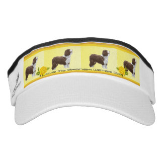 Spanish Water Dog and Yellow Roses Visor