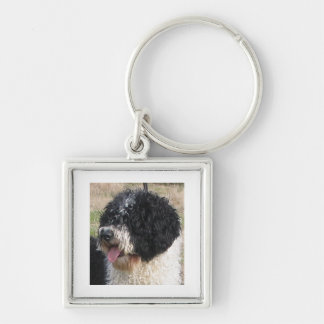 Spanish Water Dog b/w.png Keychain