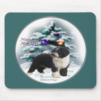 Spanish Water Dog Christmas Gifts Mouse Pad