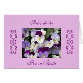 Spanish: wedding / boda card