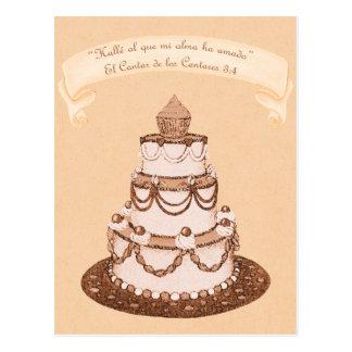 Spanish~Wedding Cake Scripture Postcard