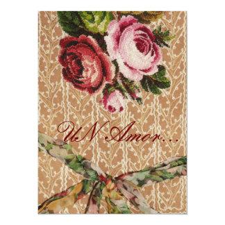 "Spanish Wedding Invitation"" Tapestry & Roses"" 5.5x7.5 Paper Invitation Card"