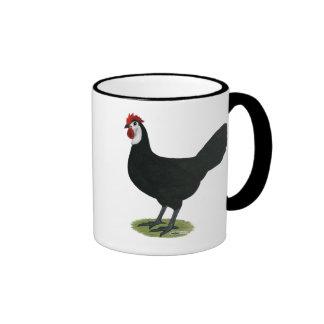 Spanish:  White-faced Hen Ringer Mug