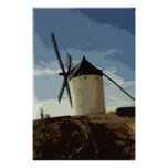 Spanish Windmills Poster