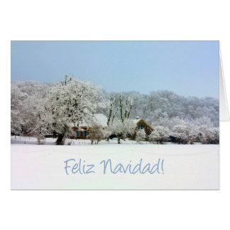 spanish winter wonderland merry x mas greeting card