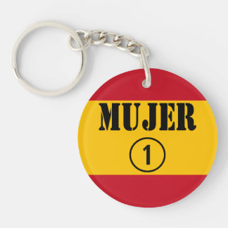 Spanish Wives : Mujer Numero Uno Single-Sided Round Acrylic Keychain